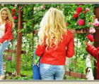 My red leather jacket and roses | 1763 Views | Fame 9.18