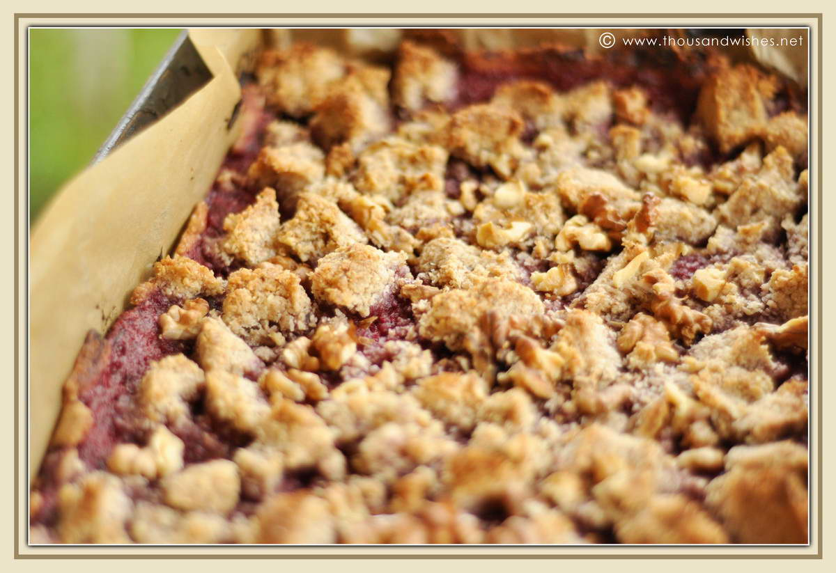 Bake until the streusel is golden brown for about 30 min. Let it cool ...