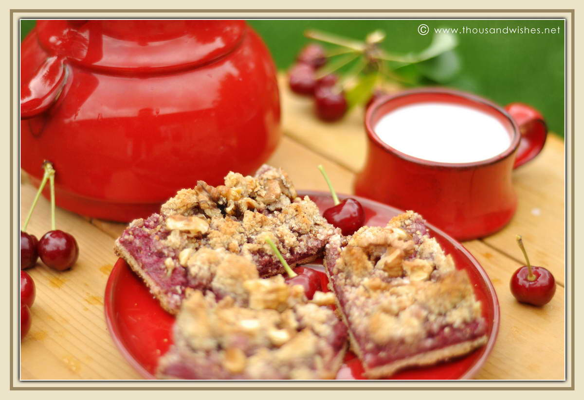 "One thought on "" Cherry streusel bars """