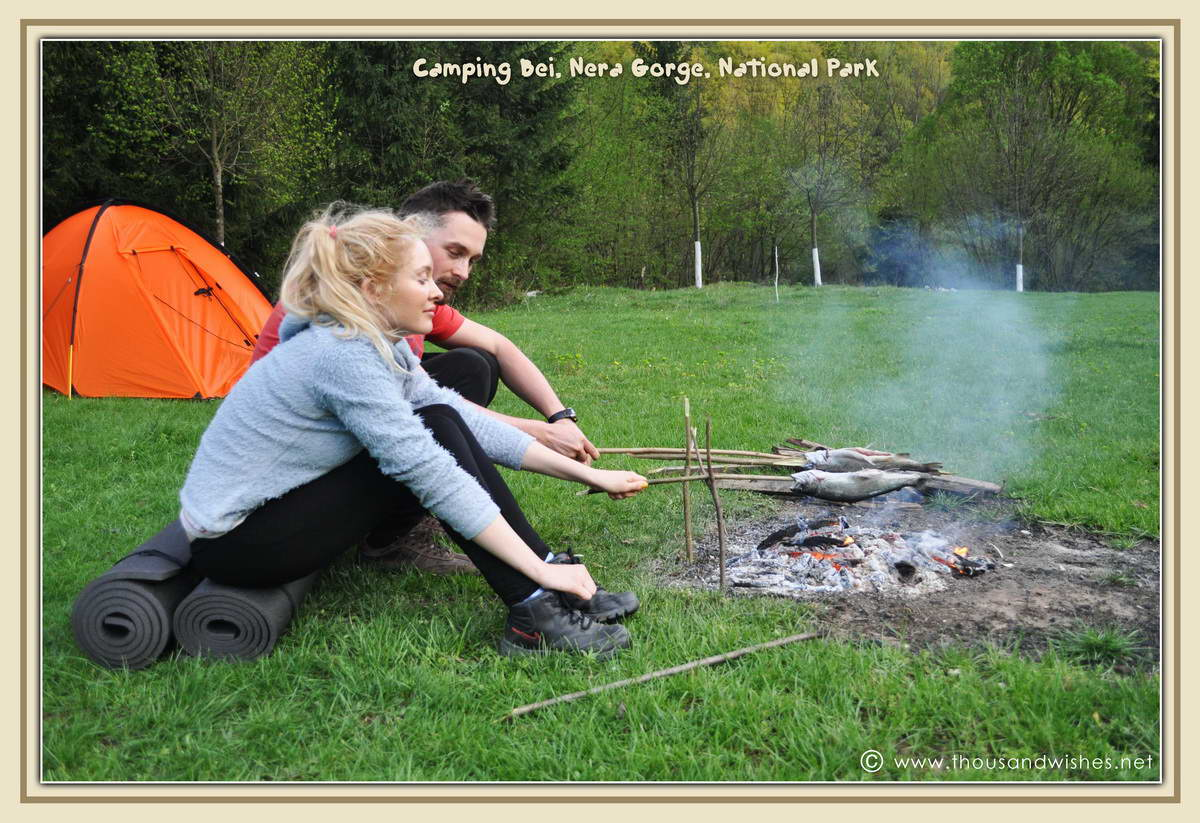 35_preparing_fish_trout_camping_bei_nera_gorge_romania
