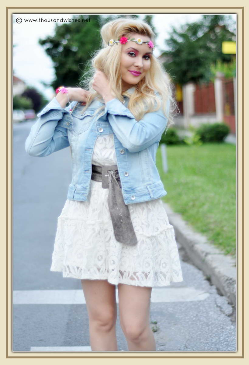 02_white_dress_jeans_jacket_flower_headband