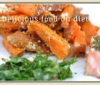 Salmon with sweet potatoes, garlic and parsley | 112 Views | Fame 12.44