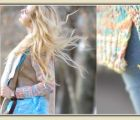 Colorful knit and blue jeans | 570 Views | Fame 10.18