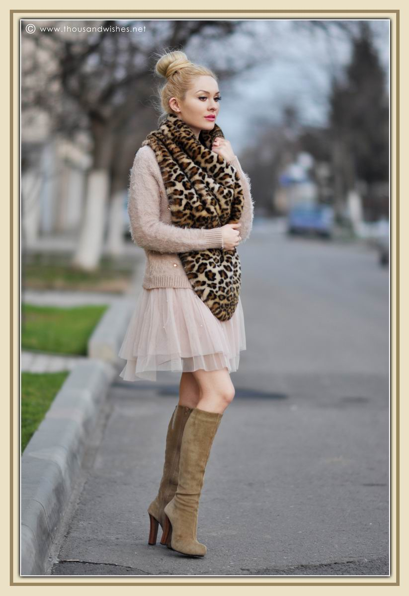 07_ballerina_look_tulle_dress_leopard_print_scarf