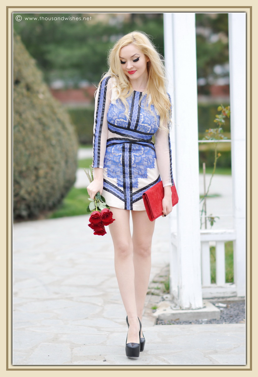 05_blue_dress_sheinside_black_pumps_red_clutch_lips